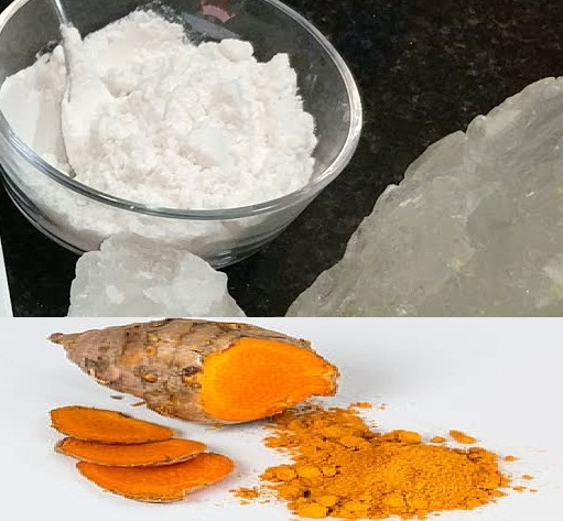 Turmeric and rock salt for toothache
